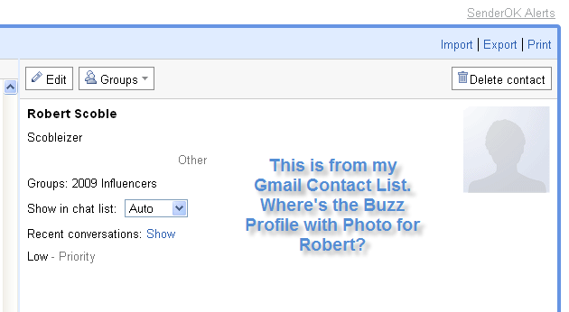 Why Has Google Failed to Integrate Buzz With Contacts?